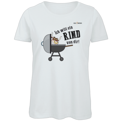 Motiv: Organic Lady T-Shirt - SizzleBrothers - Grillen - Ich will ein Rind