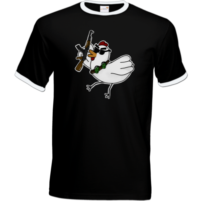 Motiv: T-Shirt Ringer - Terrorhuhn
