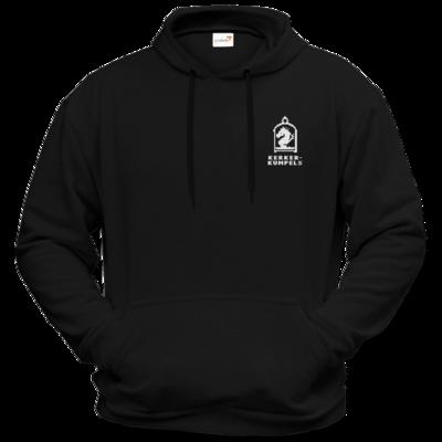 Motiv: Hoodie Premium FAIR WEAR - Kerkerkumpels Logo S/W Vertikal