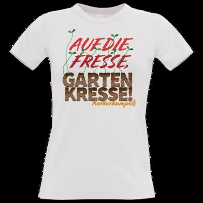 Motiv: T-Shirt Damen Premium FAIR WEAR - Auf die Fresse, Gartenkresse!