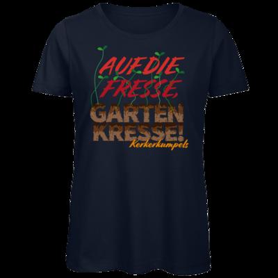 Motiv: Organic Lady T-Shirt - Auf die Fresse, Gartenkresse!