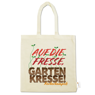 Motiv: Baumwolltasche - Auf die Fresse, Gartenkresse!