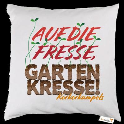 Motiv: Kissen - Auf die Fresse, Gartenkresse!