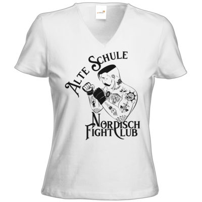 Motiv: T-Shirts Damen V-Neck FAIR WEAR - Alte Schule