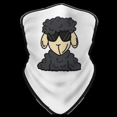 Motiv: Schlauchtuch - ZOS Schaf mit Sonnenbrille grau