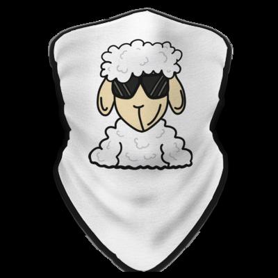 Motiv: Schlauchtuch - ZOS Schaf mit Sonnenbrille