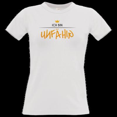 Motiv: T-Shirt Damen Premium FAIR WEAR - ich bin unfähig