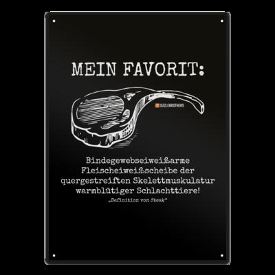 Motiv: Metallschild - Definition Steak