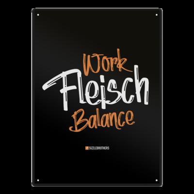 Motiv: Metallschild - Fleisch Balance