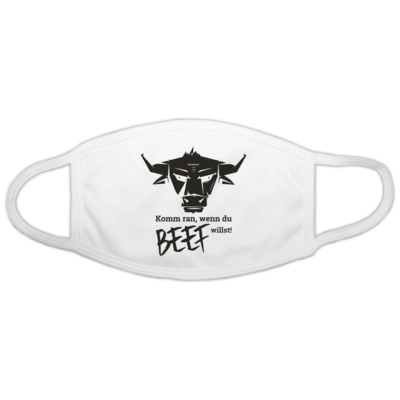 Motiv: Gesichtsmaske - Willste Beef?