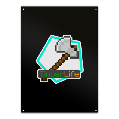 Motiv: Metallschild - Logo