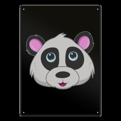 Motiv: Metallschild - Panda