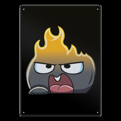 Motiv: Metallschild - OnFire