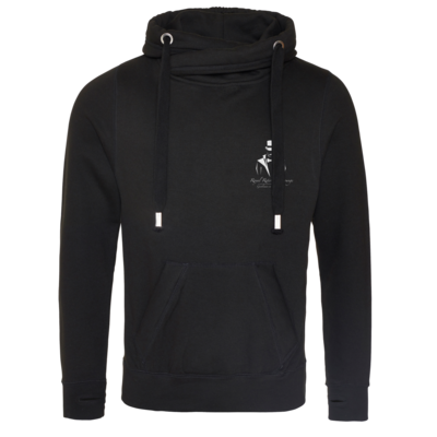 Motiv: Cross Neck Hoodie - Royal Retirement Lounge