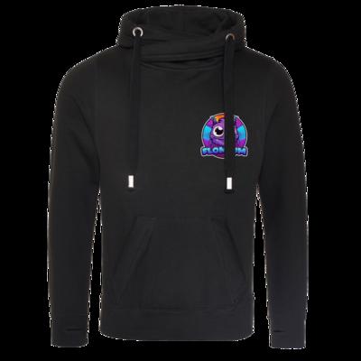 Motiv: Cross Neck Hoodie - FLOMIUM Logo