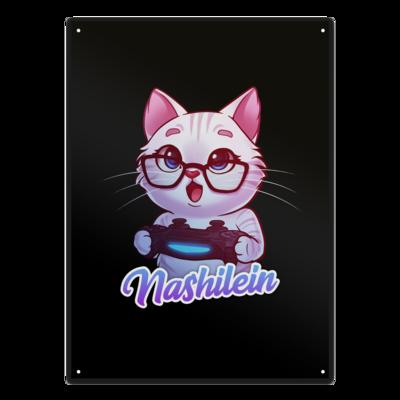 Motiv: Metallschild - Nashi Logo + Schriftzug