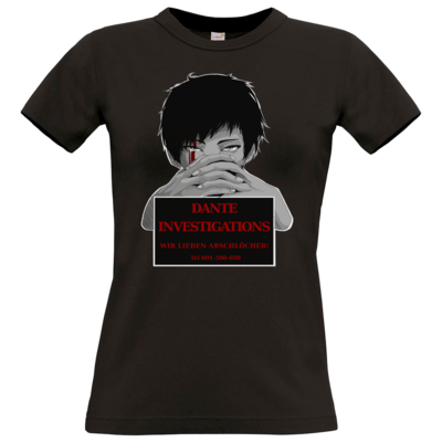 Motiv: T-Shirt Damen Premium FAIR WEAR - Dante Investigations