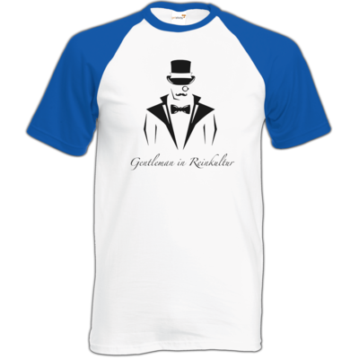Motiv: TShirt Baseball - Gentleman Only