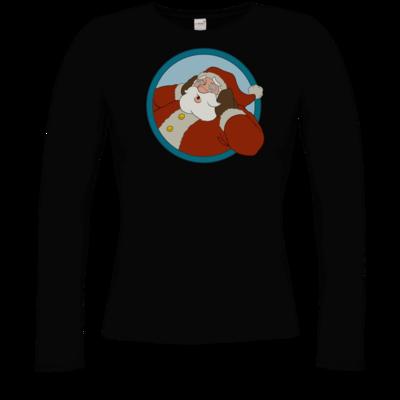 Motiv: Longsleeve Damen Organic - Weihnachtsmann