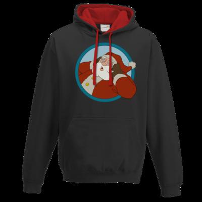 Motiv: Two-Tone Hoodie - Weihnachtsmann