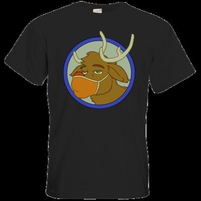 Motiv: T-Shirt Premium FAIR WEAR - Rentier mit Maske