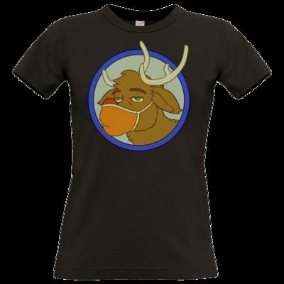 Motiv: T-Shirt Damen Premium FAIR WEAR - Rentier mit Maske