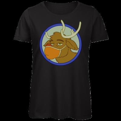 Motiv: Organic Lady T-Shirt - Rentier mit Maske