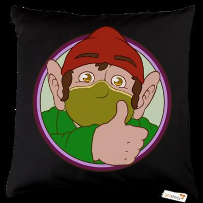 Motiv: Kissen Baumwolle - Frodo mit Maske