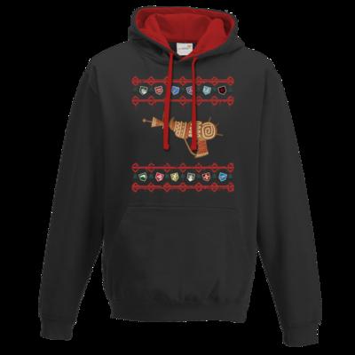 Motiv: Two-Tone Hoodie - Zombie Weihnachten