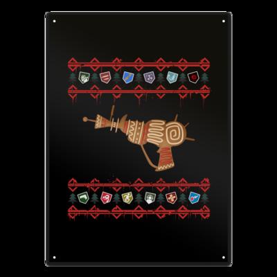 Motiv: Metallschild - Zombie Weihnachten