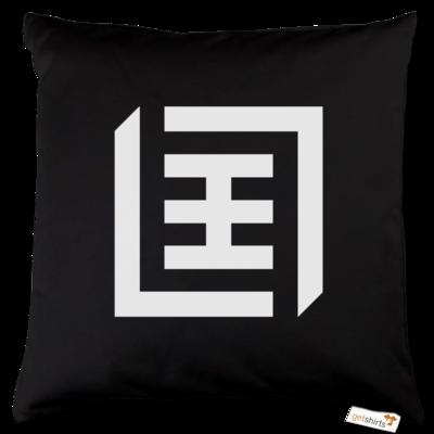 Motiv: Kissen Baumwolle - Logo b/w