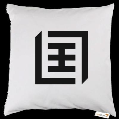 Motiv: Kissen - Logo b/w