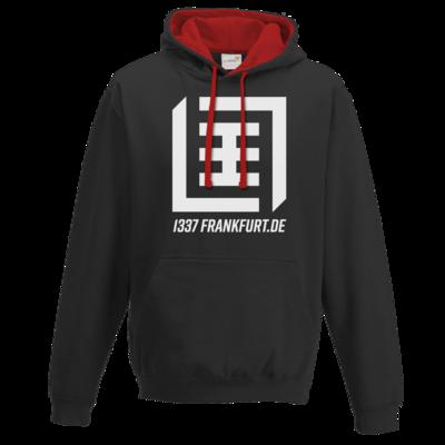 Motiv: Two-Tone Hoodie - Logo b/w