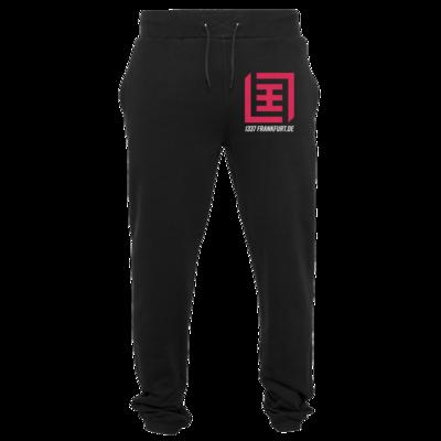 Motiv: Heavy Sweatpants - Magenta Logo b/w