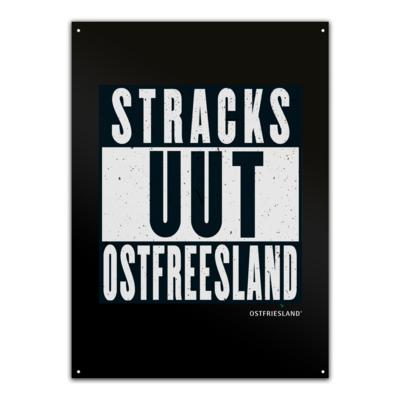 Motiv: Metallschild - Stracks uut Ostfreesland