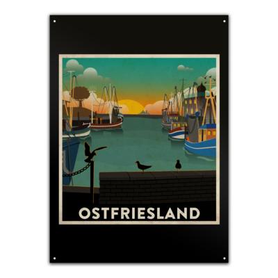 Motiv: Metallschild - Heimathafen