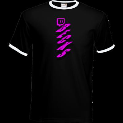 Motiv: T-Shirt Ringer - twitch becks pink