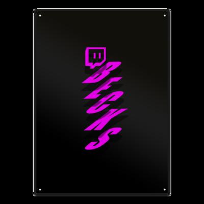 Motiv: Metallschild - twitch becks pink