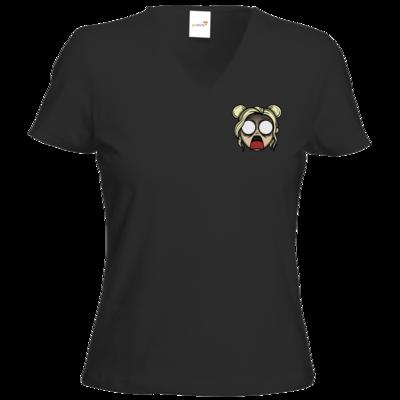 Motiv: T-Shirt Damen V-Neck Classic - Panik bei Fee