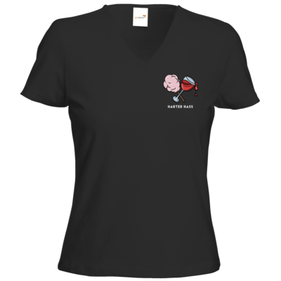 Motiv: T-Shirt Damen V-Neck Classic - Harter Hass