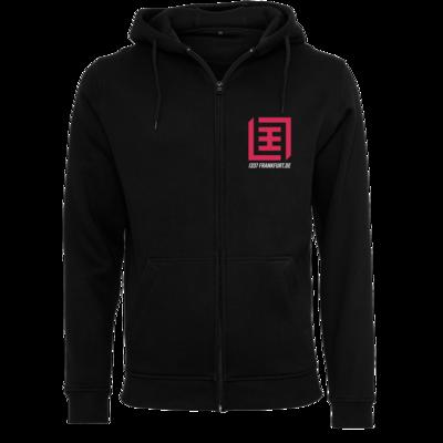 Motiv: Heavy Zip-Hoodie - Magenta Logo b/w