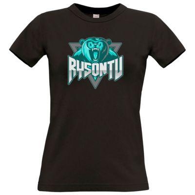 Motiv: T-Shirt Damen Premium FAIR WEAR - RysonTV_Logo