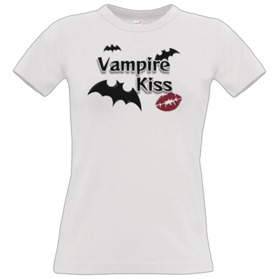 Motiv: T-Shirt Damen Premium FAIR WEAR - Vampire Kiss
