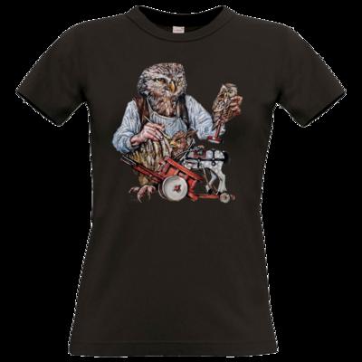 Motiv: T-Shirt Damen Premium FAIR WEAR - Eulenschnitzer