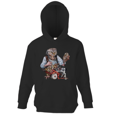 Motiv: Kids Hooded Sweat - Eulenschnitzer