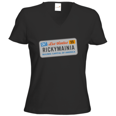 Motiv: T-Shirt Damen V-Neck Classic - Rickymainia Kennzeichen