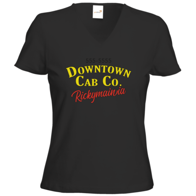 Motiv: T-Shirt Damen V-Neck Classic - Downtown Cap