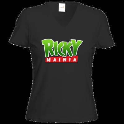 Motiv: T-Shirt Damen V-Neck Classic - Rickymainia Logo