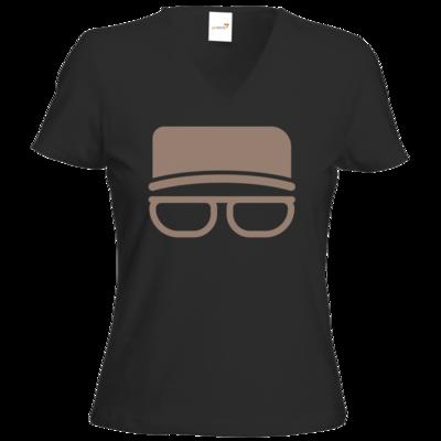Motiv: T-Shirt Damen V-Neck Classic - Kurt Simpel