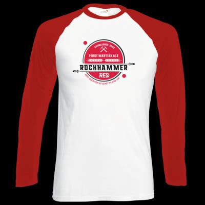 Motiv: Longsleeve Baseball T - Rockhammer Red 2093